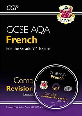 New GCSE French AQA Complete Revision & Practice (with CD & Onli... by CGP Books