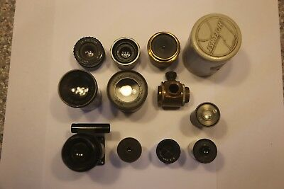 Joblot Vintage 11x Microscope and Enlarging lenses, Wray, R&J Beck, W . Watson