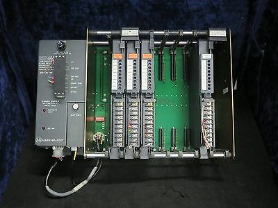 Allen-Bradley 1771-PA Power Supply & 1771AB Chassis With 3 AC Ouputs, DC Input