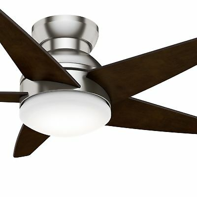 Casablanca 44 isotope snow white hugger led light ceiling fan casablanca 44 isotope brushed nickel hugger led light ceiling fan aloadofball Choice Image