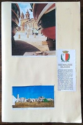 Scrap book of photos of Malta & Gozo from the 70's with over 120 photos