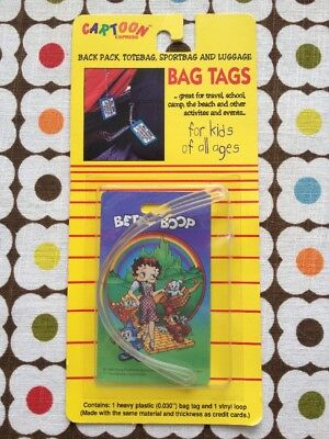Vintage BETTY BOOP Luggage Bag Tags Backpack WIZARD OF OZ 90s Retro Travel Gift