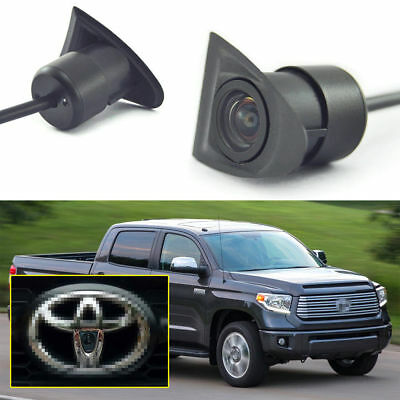 HD CCD Car Front View Camera Logo Embedded For Toyota 170°