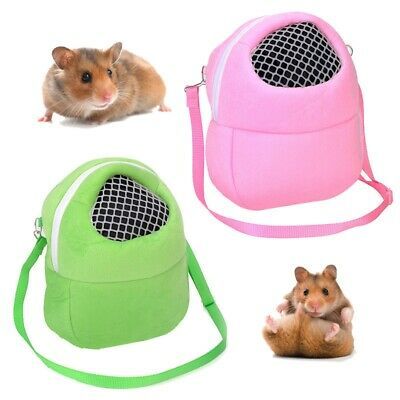 Small Pet Carrier Hamster Chinchilla Carrying Pouch Hedgehog Sleep Shoulder Bag