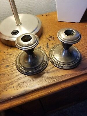 La pierre sterling silver candle holders