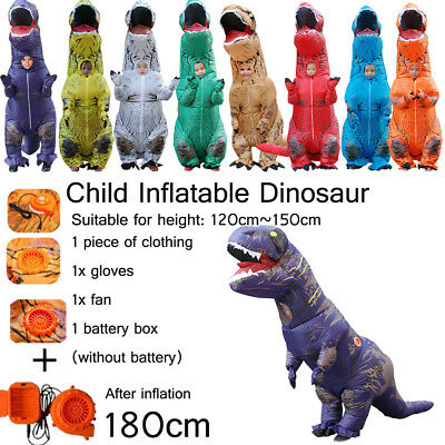 Halloween T- Rex Cosplay Inflatable Dinosaur Costume 1.8M/70.86'' Kids Present