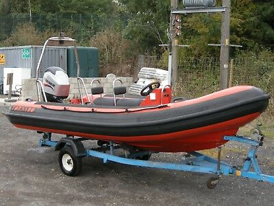 5m Tornado RIB, 60hp Mariner 4 stroke outboard and Trailer.