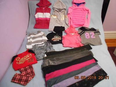 18 Pc Mixed Lot Girls Size 6-6X Used Fall & Winter Clothing (6 are nwt)