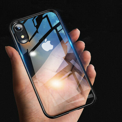 For Apple iPhone X/XS MAX XR 6/8/7 Plus Clear Slim Hybrid TPU+PC Shockproof Case