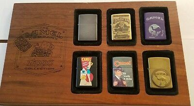 Camel Company 1996 Zippo Collection Display Wood  Board - For 6 Zippo Lighters