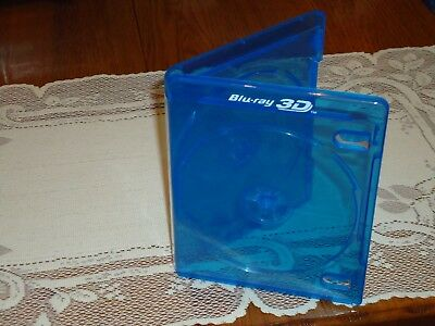NEW 2-Disc 3D Blu-ray Case, Holds 2 Discs, 12mm Replacement empty case