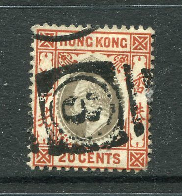 Old China Hong Kong KEVII 20c stamp Used with Philippine Ship Marking Pmk