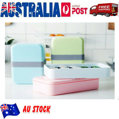 Double Layer Lunch Box Food Storage Container Microwave Oven Bento Box 3 Color
