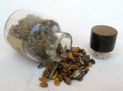Bottle of Genuine Golden Tigers Eye stones from South Africa