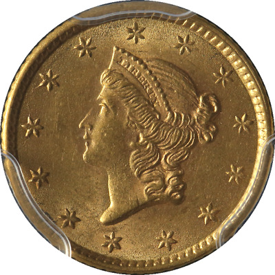 1853-P Liberty Gold $1 Ty 1 PCGS MS63 Great Eye Appeal Fantastic Luster