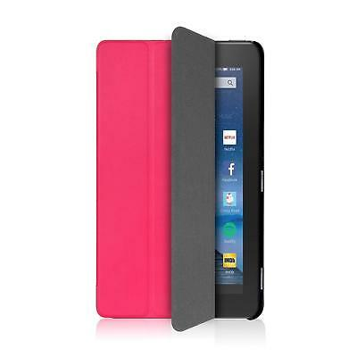 For Amazon Fire HD 8 Ultra Slim Case Exact SLENDER Series PU Leather Cover BLK
