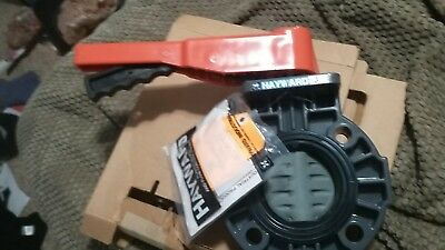 """Hayward BYC Series PVC Butterfly Valve with Lever Handle, EPDM Liner, 3"""""""