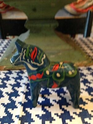 Small Vintage Dala Horse -original Label-Sweden!