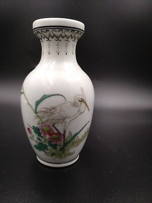 Small Antique Miniature Chinese Famille Rose Hand Painted Porcelain Vase