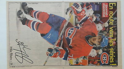"""2004 Journal De Montreal 9 Insert Posters  """" Montreal Ch """"  Players"""