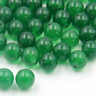 180Pcs Green Jade Gem Beads Finding For Jewelry Making