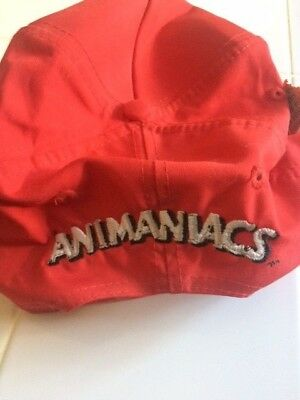 Warner Brothers ANIMANIACS LOGO Baseball Cap Hat and ANIMANIACS PIN Collectible