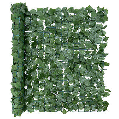 Artificial Hedge Roll Screening Ivy Leaf Garden Fence Privacy Screen 1m x 3m