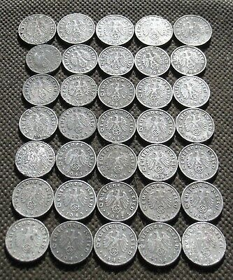 Big Lot Of Third Reich Germany Coins World War Ii With Swastika - Mix 1291