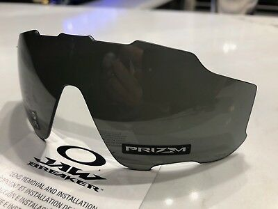 1d63b46a256 New GENUINE Oakley Jawbreaker Prizm Black Iridium Vented Replacement Lens