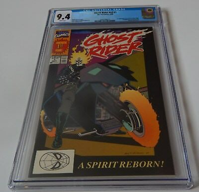 GHOST RIDER #1 1990 CGC 9.4 NM (1st App. of Dan Ketch ; White Pages)