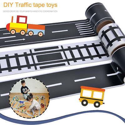 DIY Traffic Railway Road Adhesive Tape Print Stickers Car Track Play Kids Toy AU