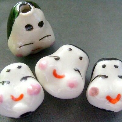 4Pcs Porcelain Happy Baby Beads Finding
