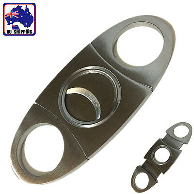 Stainless Steel Double Blade Pocket Cigar Cutter Knife Scissor Shears TCIC72902