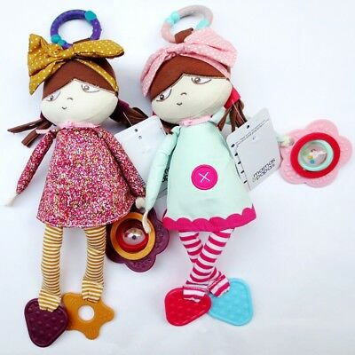 Mamas & Papas Baby Kid Child Chime Rattle Crinkle Polly Girl Sisters Doll Toy 0+