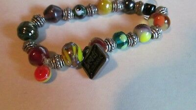 2010 BEADS OF COURAGE stretchy colorful beautiful well made bracelet