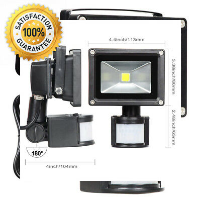 T-SUN Motion Sensor Flood light, 10W LED PIR Floodlights, Daylight White...