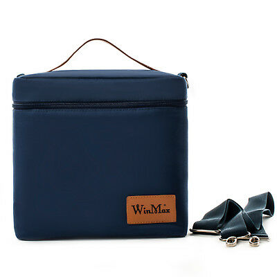 Winmax Insulated Lunch Bag Cooler Lunch Box Thermos Travel Work Women Men Blue