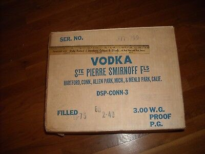 Smirnoff  Vodka Cardboard Box Original!