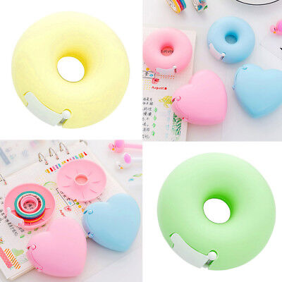 Multi-Colored Portable Donut Tape Dispenser Adhesive Tape Holder Stationery