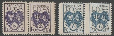 Central Lithuania. 1920 Coat of Arms. MNH