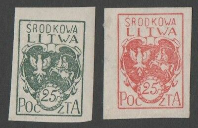 Central Lithuania. 1921 Coat of Arms. MNH
