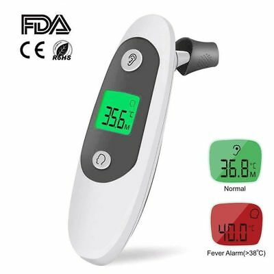Infrared Digital Ear and Forehead Thermometer Fever Warning For Baby Kids CE/FDA