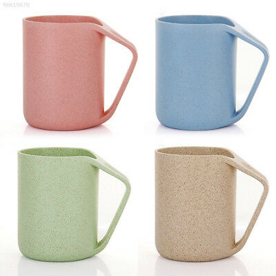 9900 Household Holder Wash Gargle Cup Eco-Friendly Wheat Rice Fiber 4 Color
