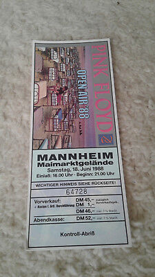 PINK FLOYD OPEN AIR 1988 Ticket / 18.06 Mannheim / Eintrittskarte