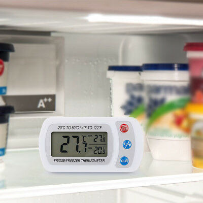 Wireless Digital Temperature Freezer Indoor Thermometer Hang Hook Thermometer