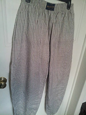 Vintage Club Reebesse Beverly Hills MC Hammer Pants Beach Baggy Striped 90s Sz L