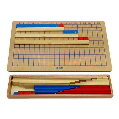 Wooden Fractions Board Educational Maths Learning Resource Montessori