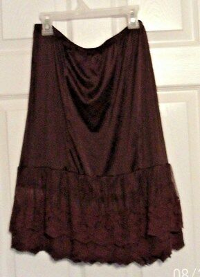 Layers & Lace CHOCOLATE BROWN Half Slip  sz.XL