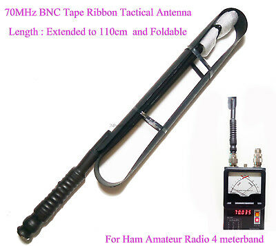Ham Amateur Radio 4Meter Band 70MHz BNC Ribbon Tape Tactical Antenna