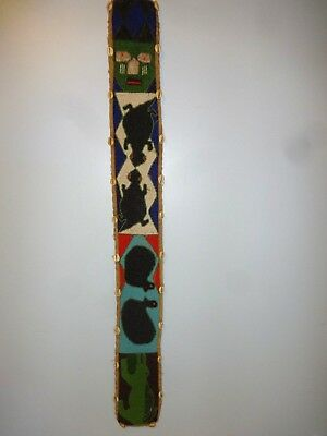 Vintage Beaded Shell Wall Hanging Yoruba Diviner Belt African Nigeria 002
